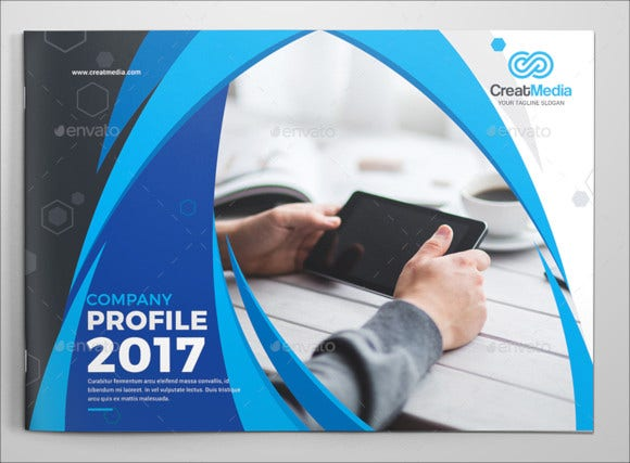 company-landscape-brochure-template