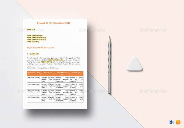 easy-to-print-demand-to-pay-promissory-note-template