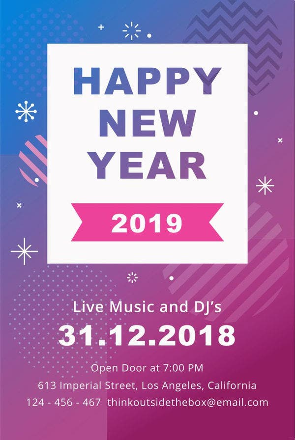 editable new year poster template