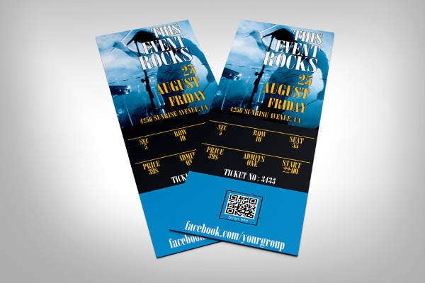 image about Printable Event Tickets identify 42+ Printable Function Ticket Templates Mockups -Term, PSD