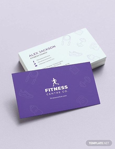 fitness centre business card