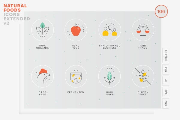 food value icons package