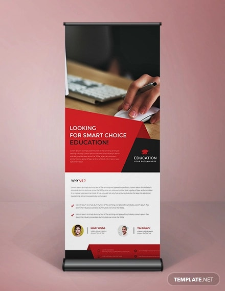 free clean style roll up banner template