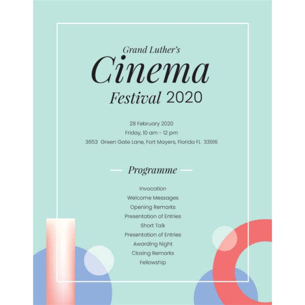 Event program template 37 free sample example format free free event program template maxwellsz