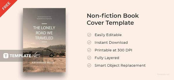 free non fiction book cover template