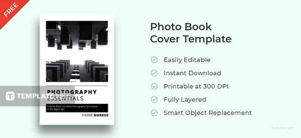 free photo book cover template