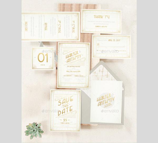 fun deco wedding invitation
