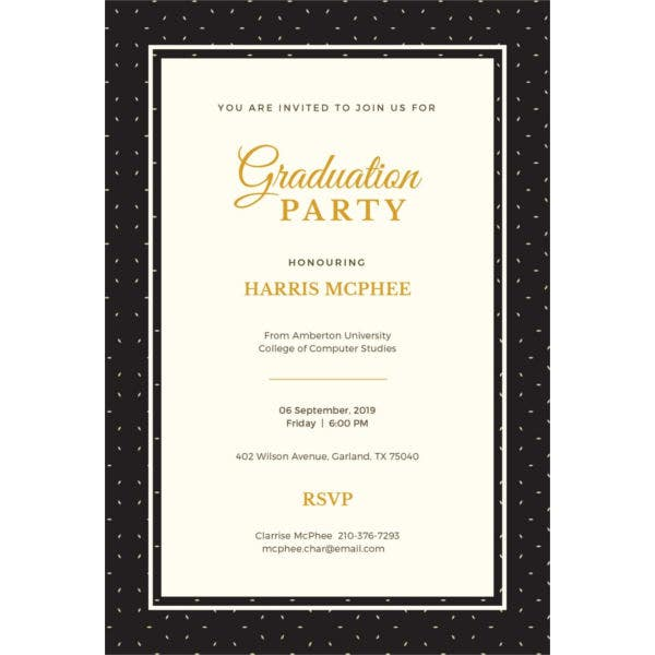 Formal Graduation Invitation