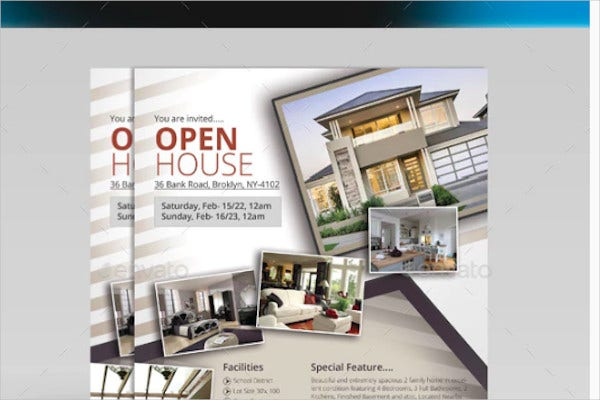 open house real estate flyer