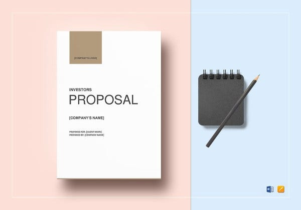 printable business proposal for investors template