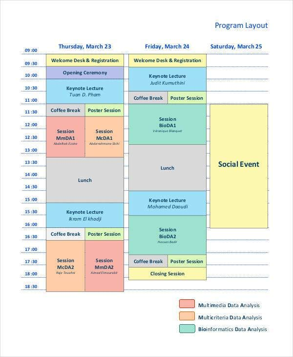 social-event-program-layout