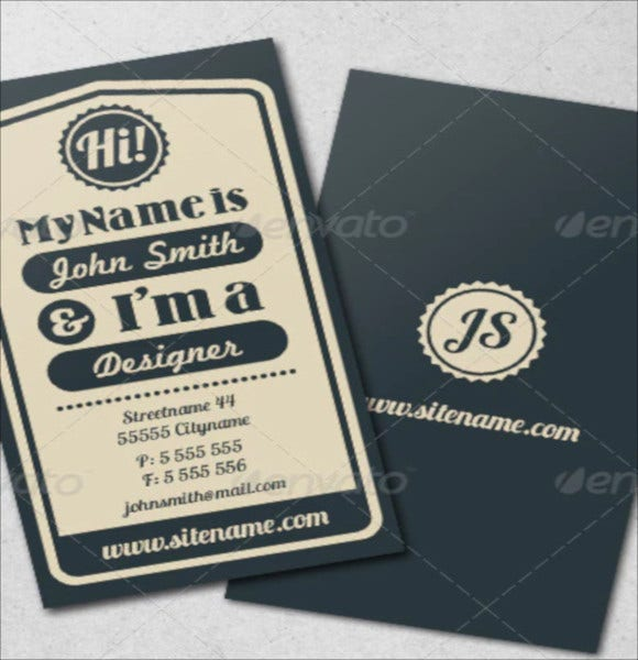 vintage-typography-business-card