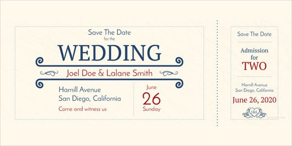 wedding-admission-ticket-template