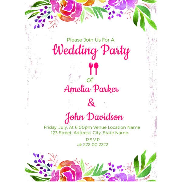 Formal Wedding Invitation Free Download