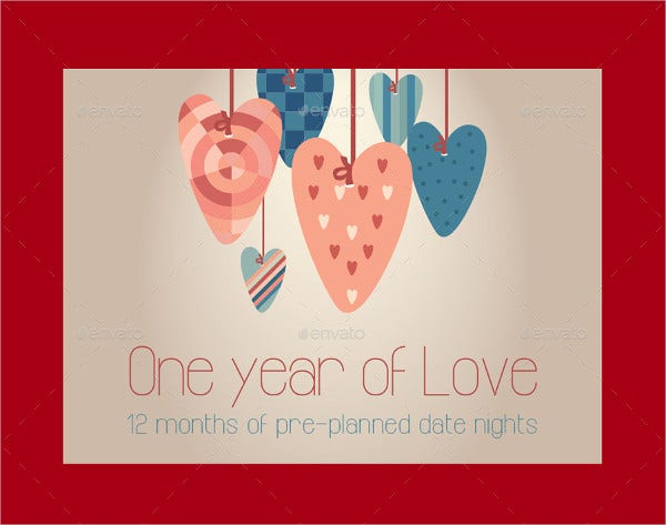 Anniversary Gift Coupon Cards