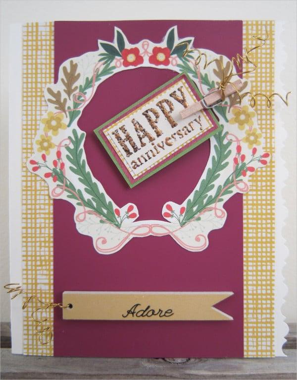 handmade happy anniversary card