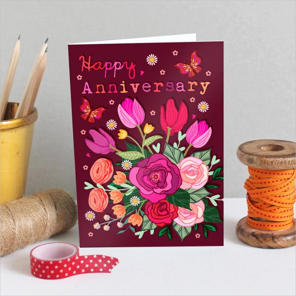 Printabe Wedding Anniversary Card