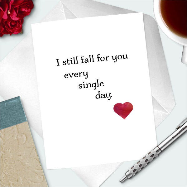 Romantic Anniversary Day Card