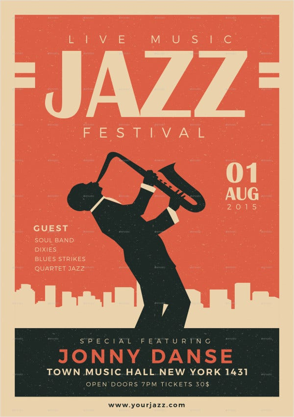 Jazz Festival Posters >> 21+ Beautiful Vintage Posters - Free PSD, Vector AI, EPS Format Download | Free & Premium Templates