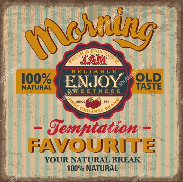 strawberry vintage label poster