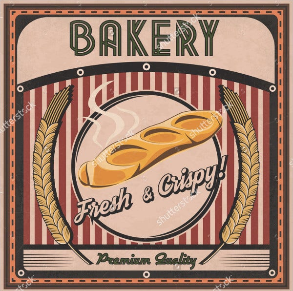 Vintage Bakery Poster Template