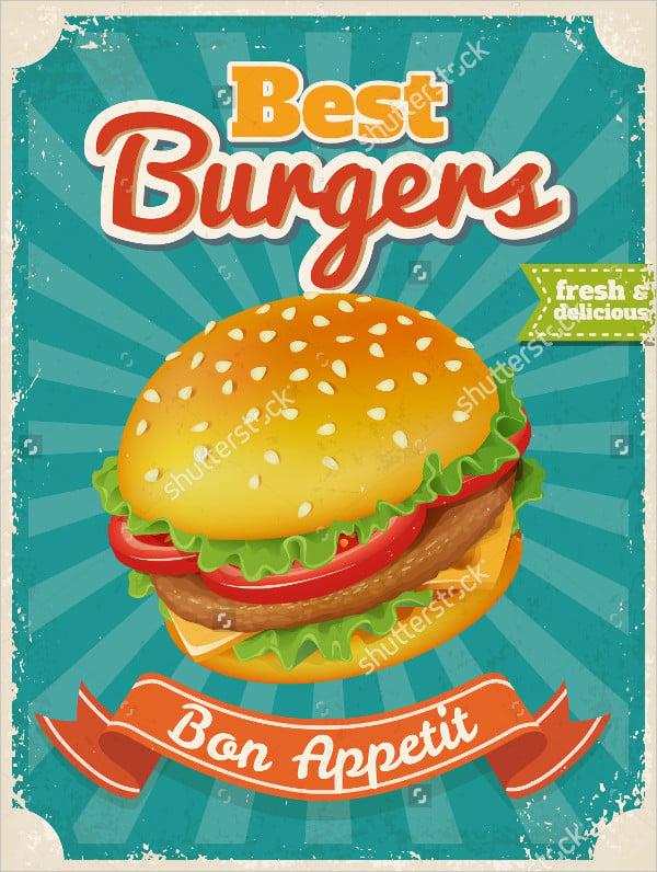 Vintage Best Burger Poster
