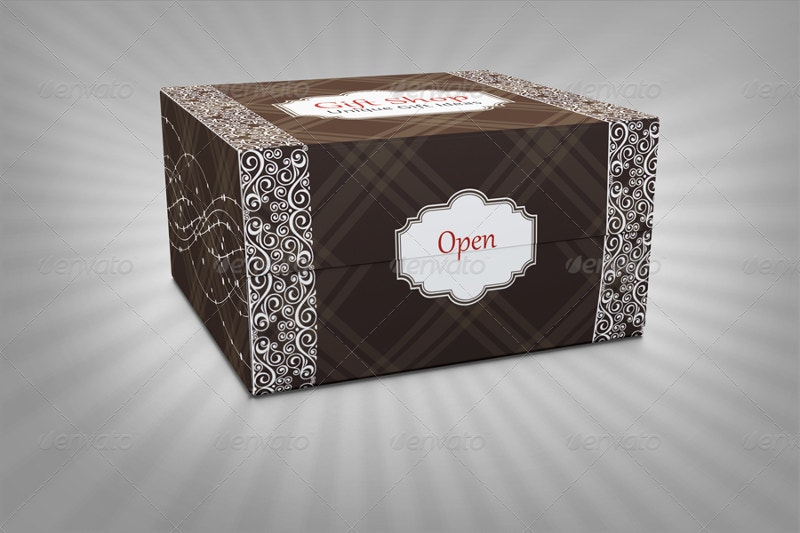 vintage gift box package template