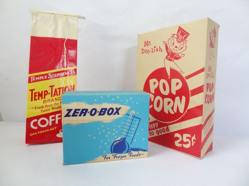 Retro Popcorn Packaging Design