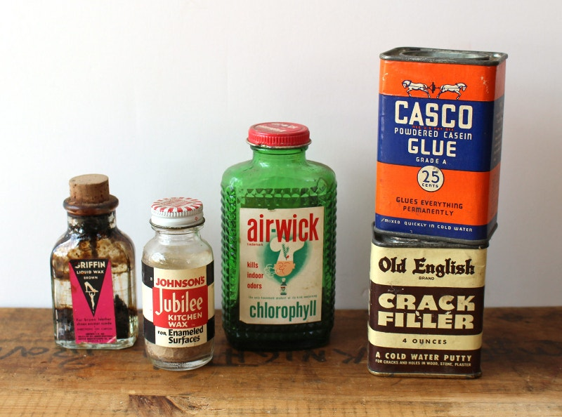Retro Household Products Packaging
