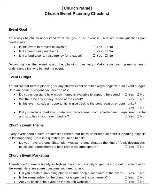 church-event-planning-checklist