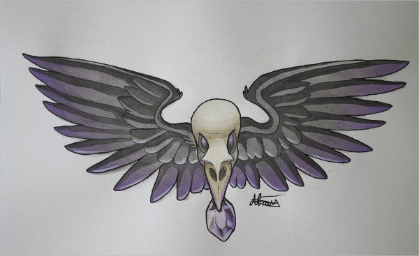 Dead Crow Drawing