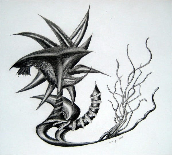 Neptune tattoo Drawing