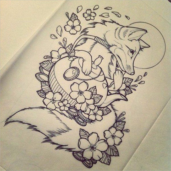 wolf cool tattoo drawing