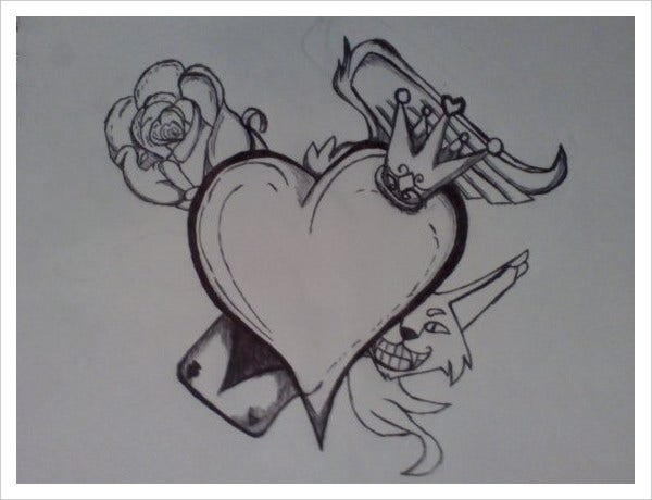 Wonderland Tattoo Drawing