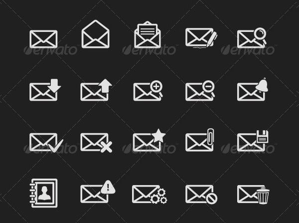 Black Email Icon