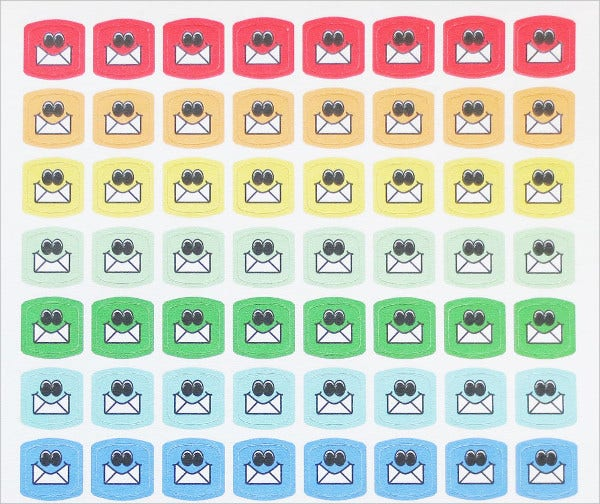 email icon planner stickers