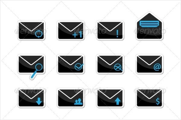 Set of Email Icon