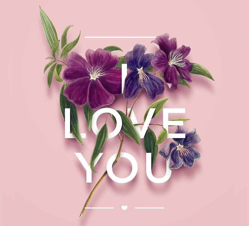 happy valentines day typography design