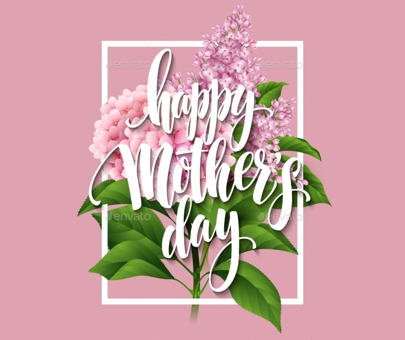 happy mothers day floral card