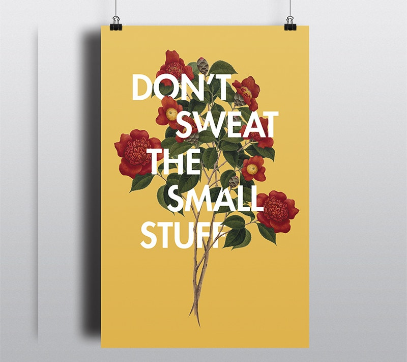 beautiful floral typography poster