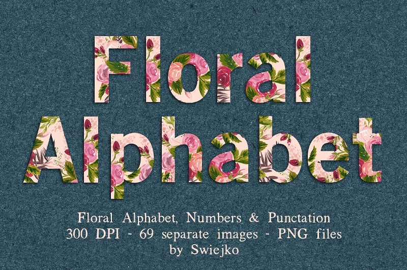 beautiful floral alphabets