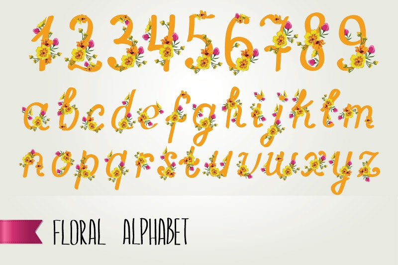 awesome floral alphabets