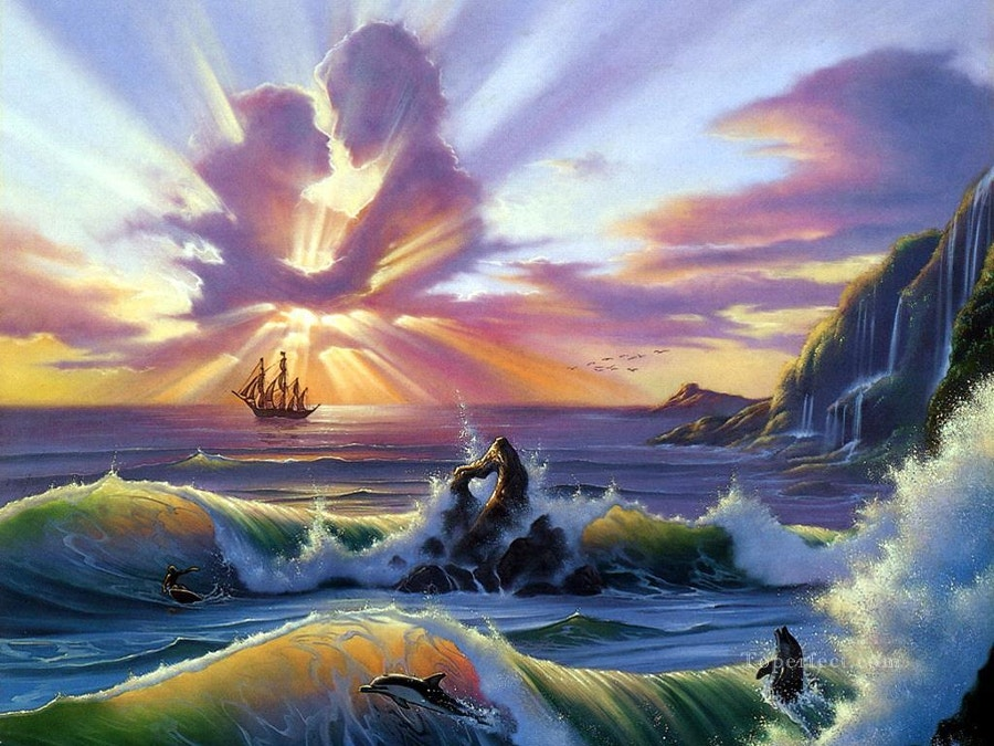 Ocean Lovers Fantasy Painting