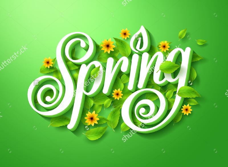3D Concept Floral Typography Design