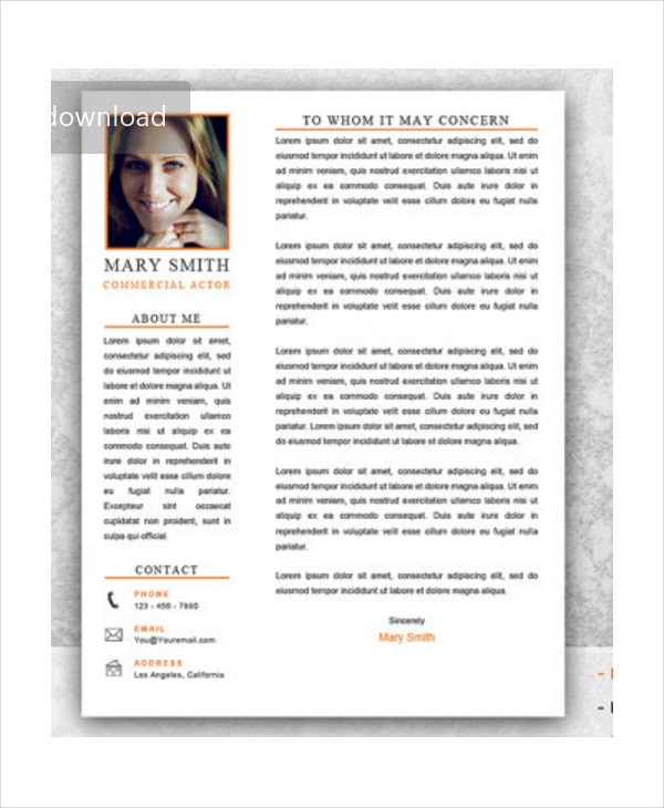 commercial-acting-resume-in-psd