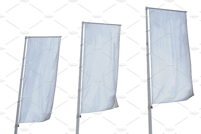 white color banner template