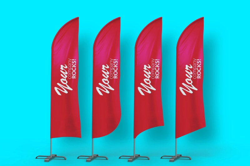 Bow Flags Banner MockUp