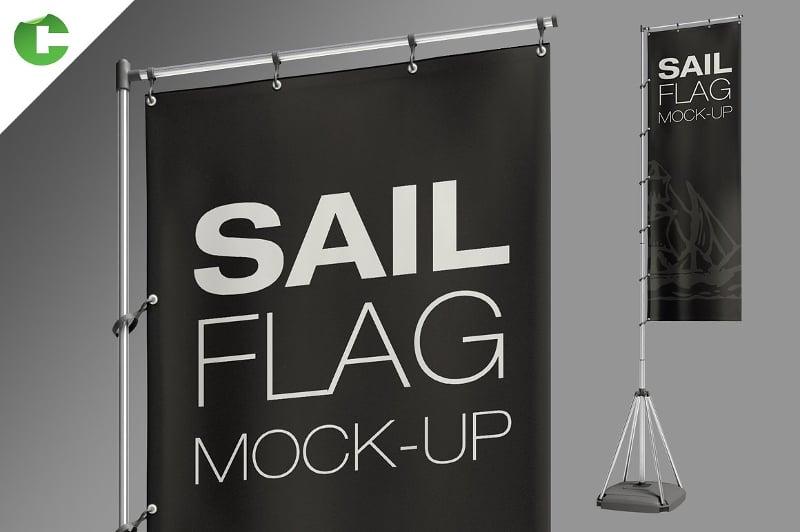 advertising flag mock up