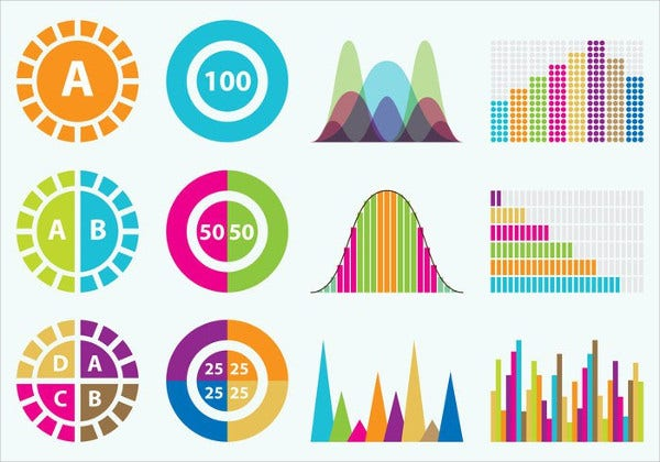 Colorful Statistics Icon