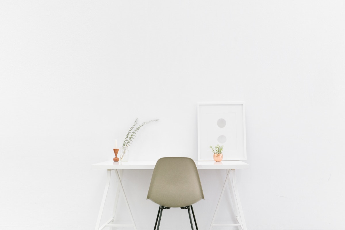 Minimal Photography of Chair and Desk